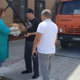 Перший хліб на елеваторі в Білопіллі